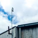 Antena punto a punto en terreno
