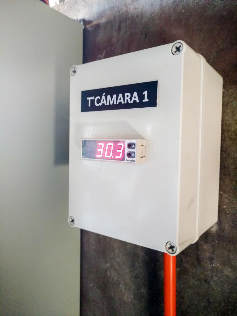 Display Temperatura Camara de secado